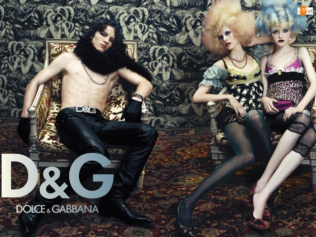 sukiekni, spodnie, Dolce And Gabbana, skórzane, kobiety, mężczyzna