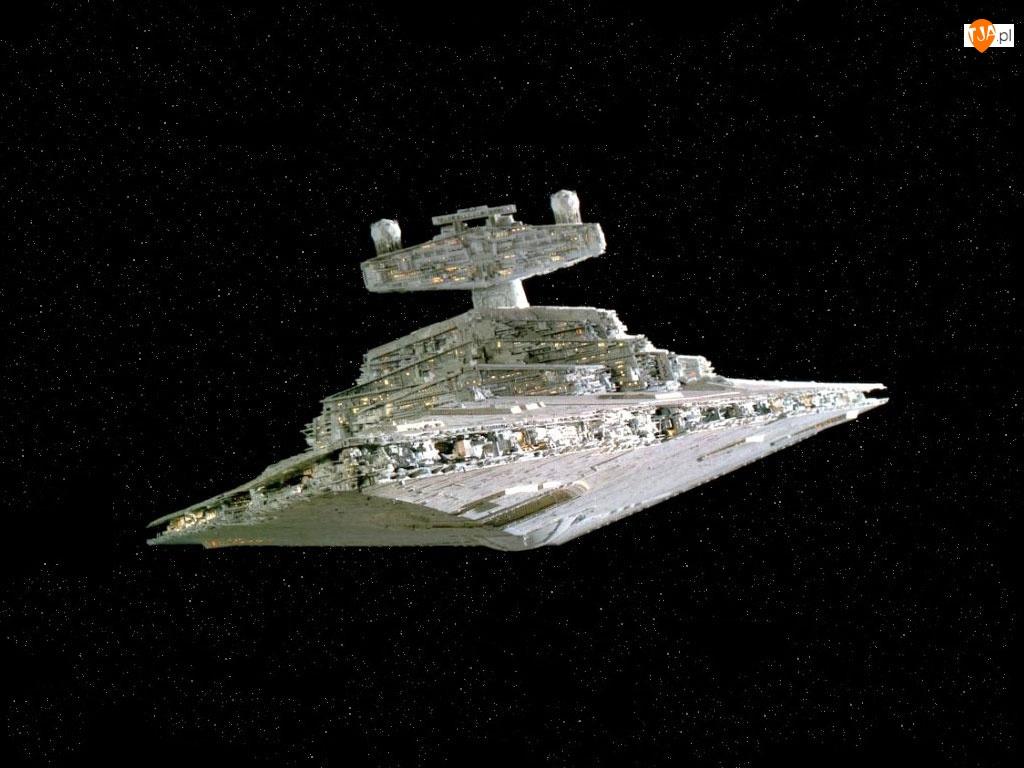 kosmiczny, Star Wars, ciemno, gwiazdy, statek