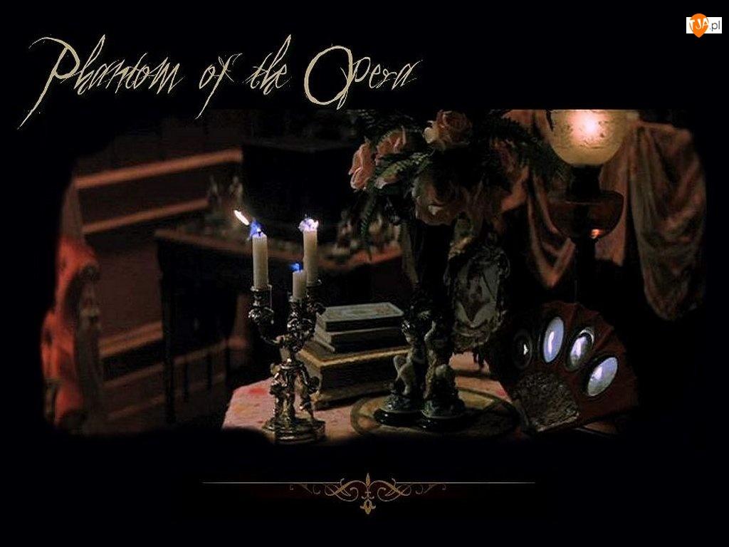 Phantom Of The Opera, wazon, stolik, świecznik