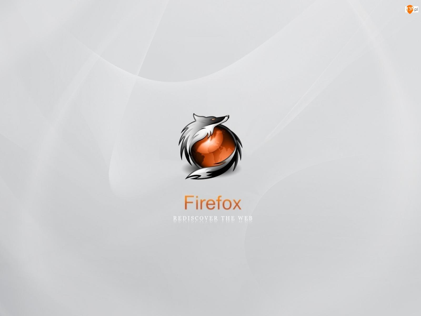 Lisek, Firefox, Szary