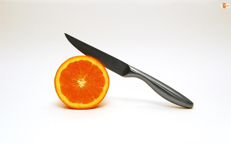 Nożem, Pomarańcza, Przekrawana