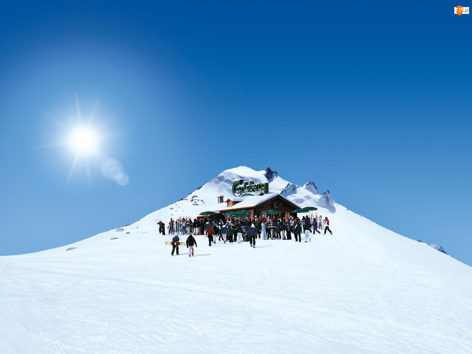Piwo, Śnieg, Calsberg, Góry