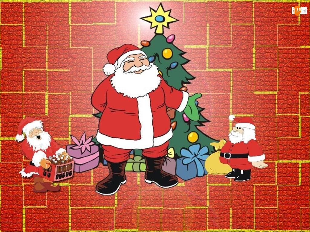 choinka, Boże Narodzenie, mikołaje