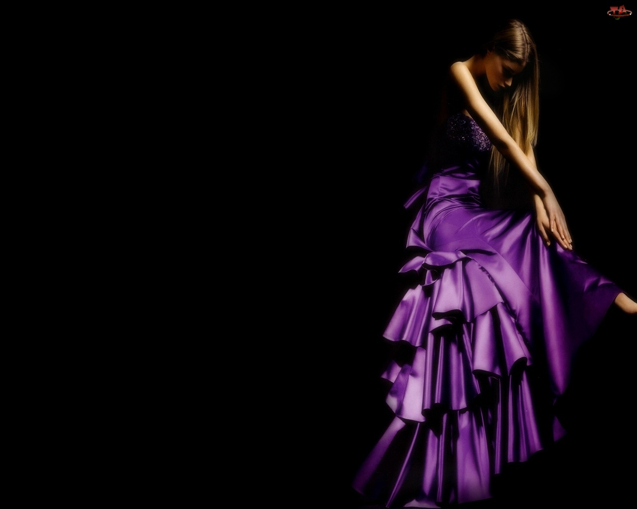 Sukienka, Kobieta, Fioletowa