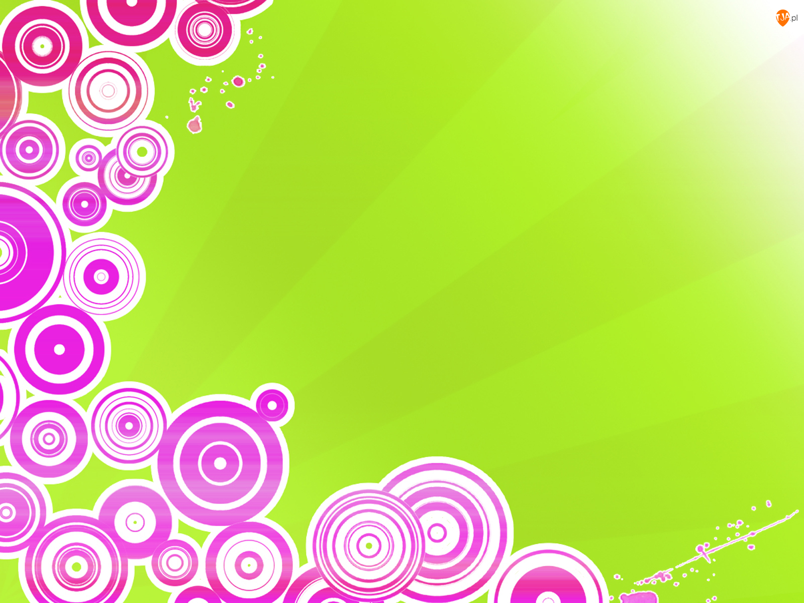 Zielone, Kółka, Tło, Fioletowe