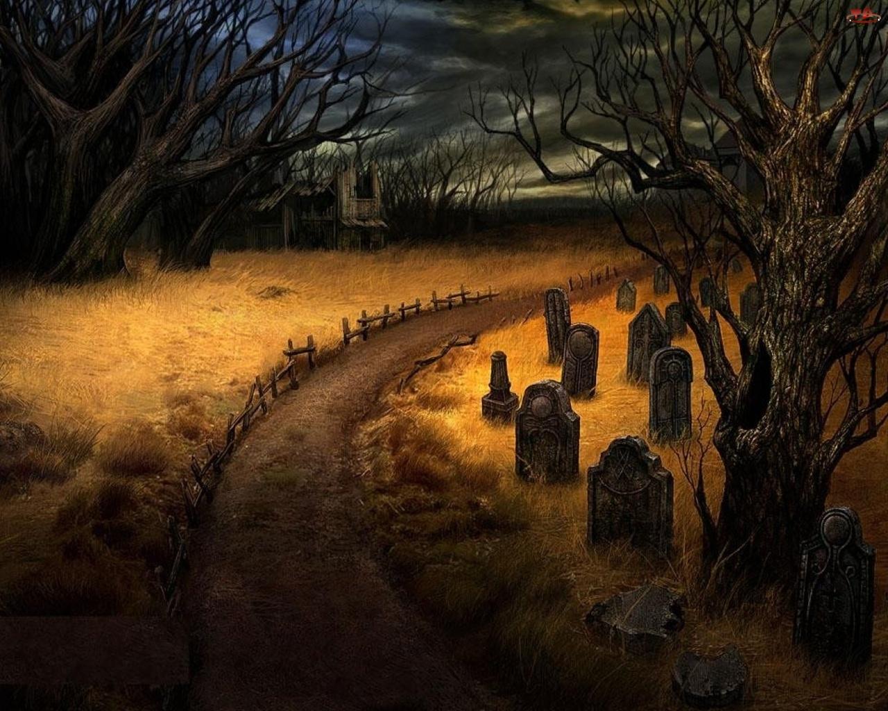 Drzewa, Cmentarz, Nagrobki