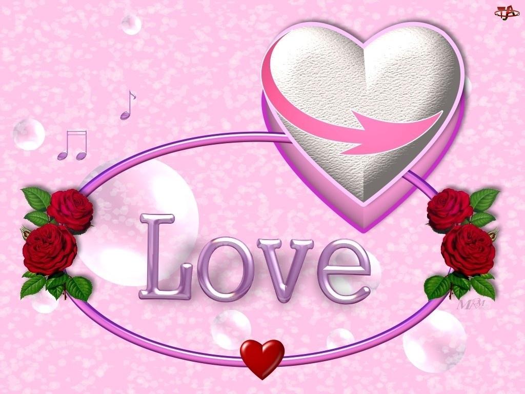 Miłość, Róże, Serce, Czerwone