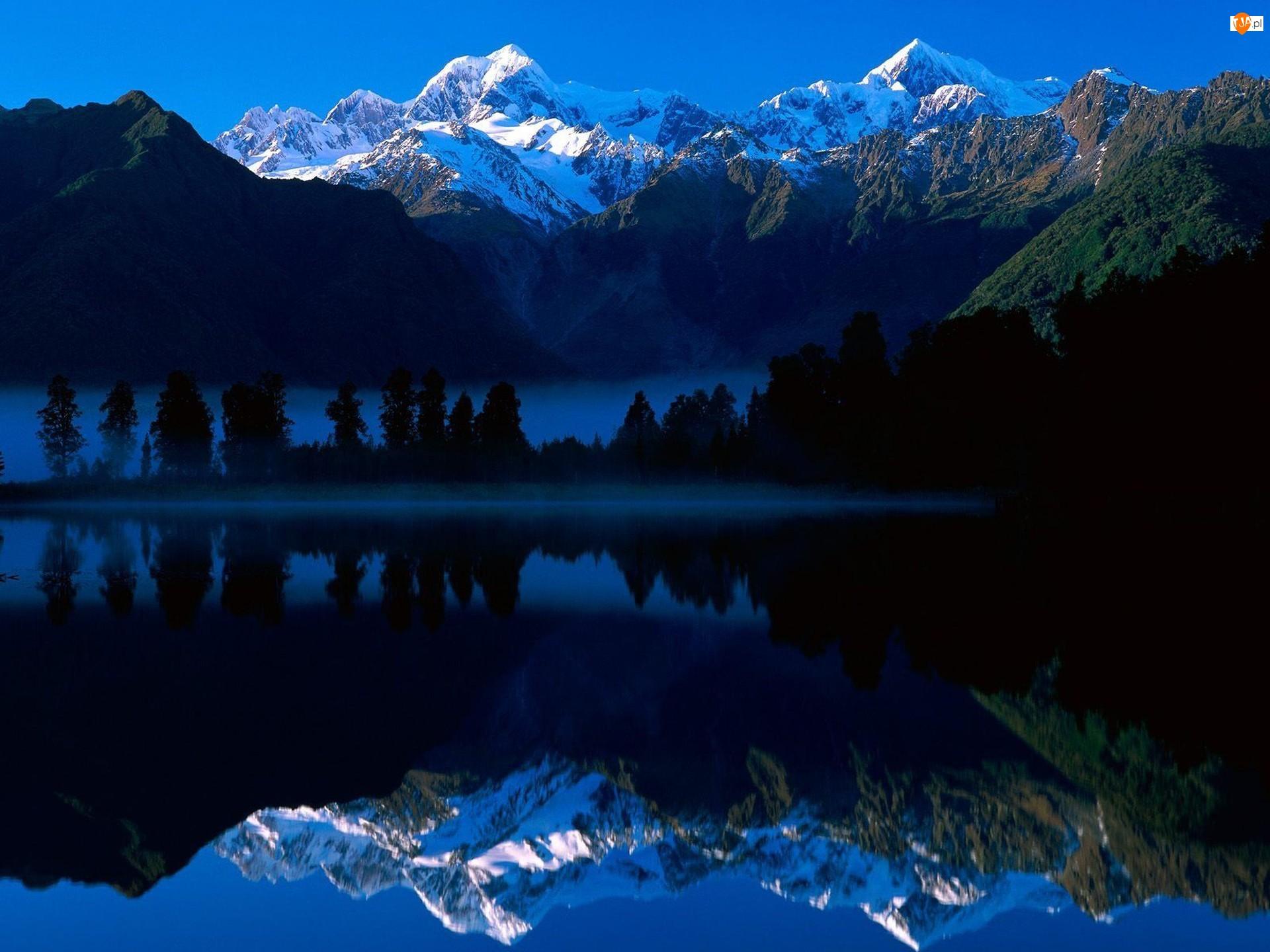 Gór, Jezioro, Odbicie, Lustrzane, Szczyty