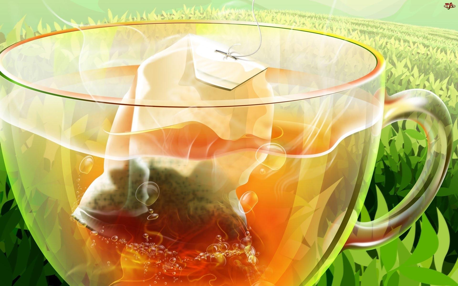Grafika, Filiżanka, Herbaty