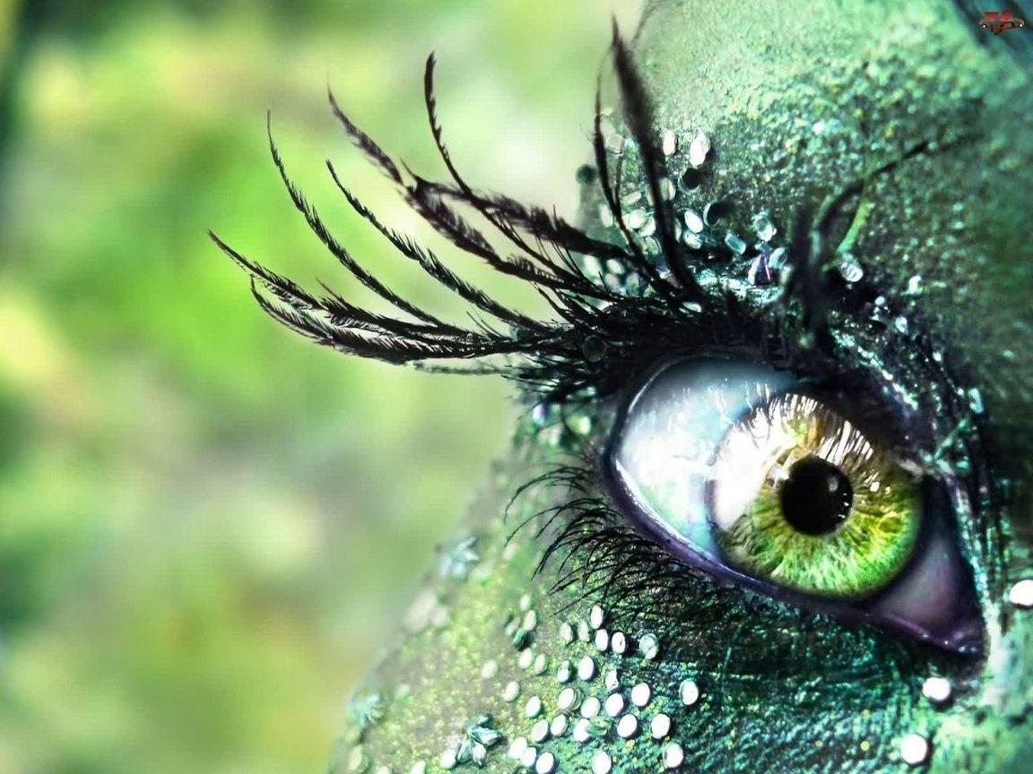 Oko, Kobiece, Zielone