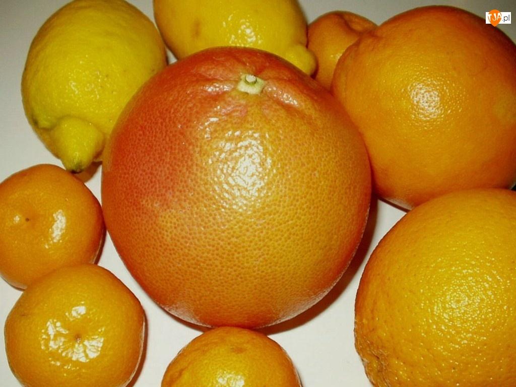 Cytryny, Cytrusy, Grapefruit, Pomarańcze, Mandarynki