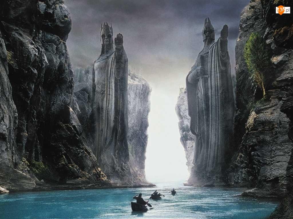 Władca Pierścienia, Aragor, Dwie Wierze, Spływ