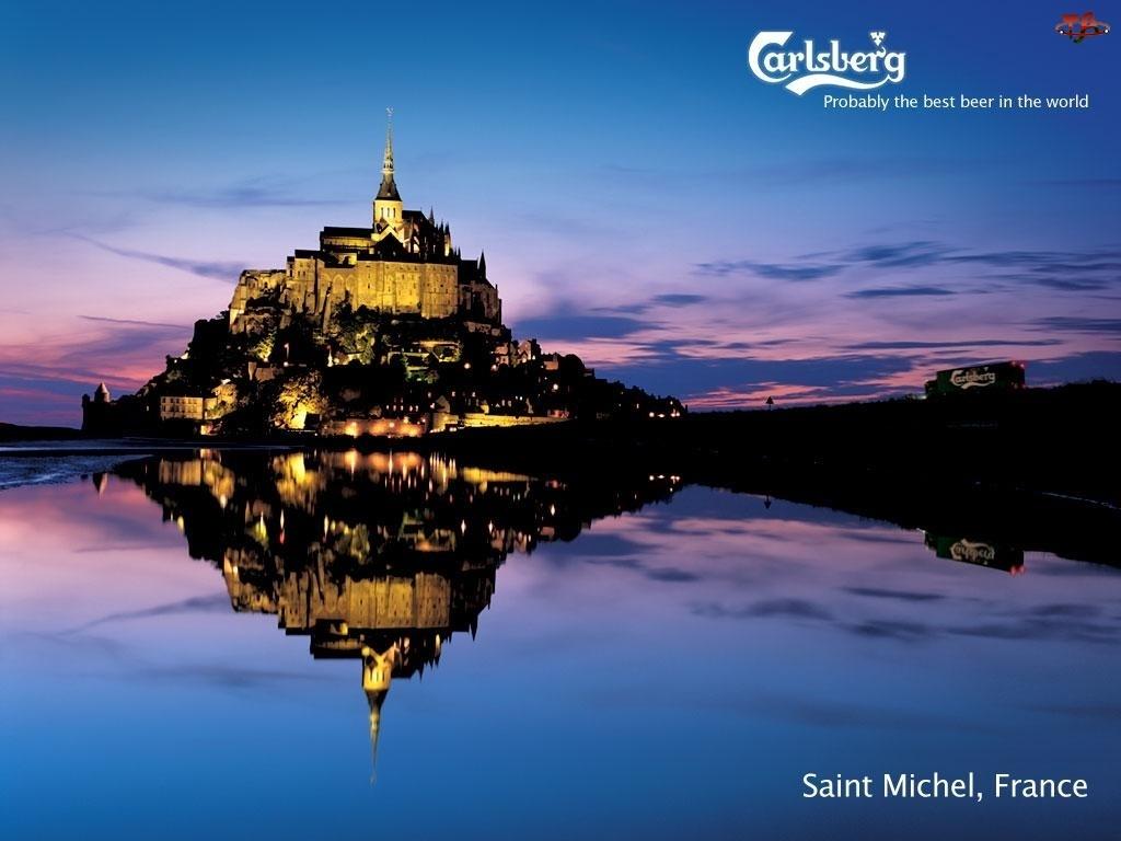 Dostawa, Saint Michel, Piwo, Francja, Calsberg, Zamek
