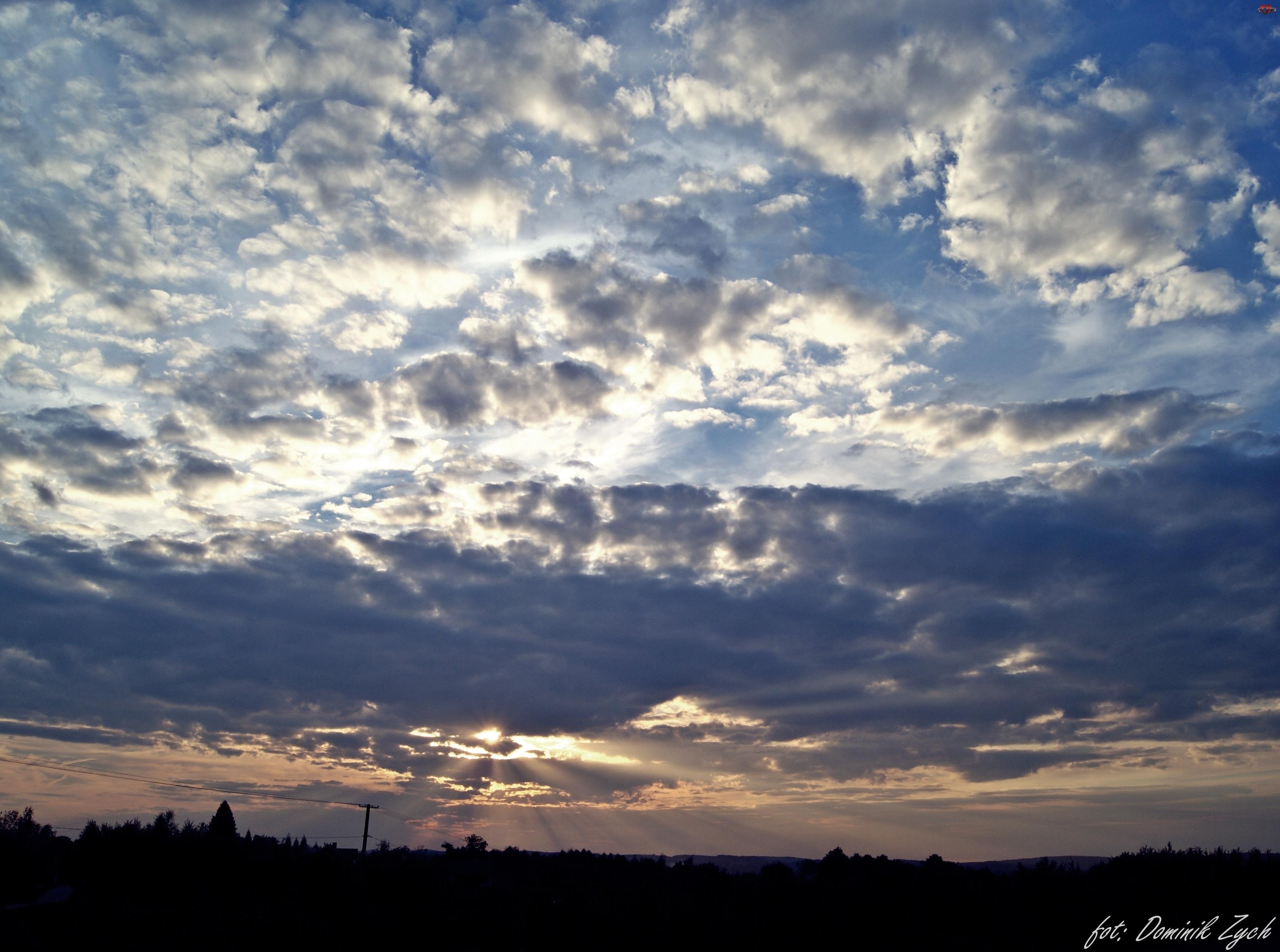 Niebo, Ropczyce, Letni, Dzień