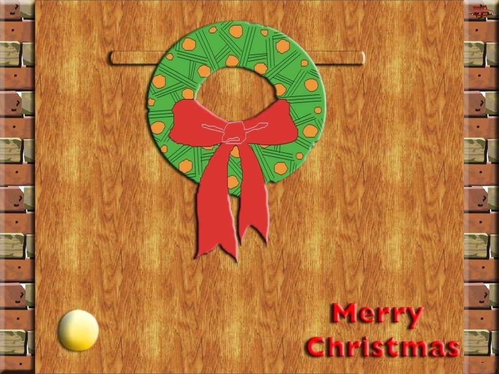 Boże Narodzenie, wieniec na drzwi
