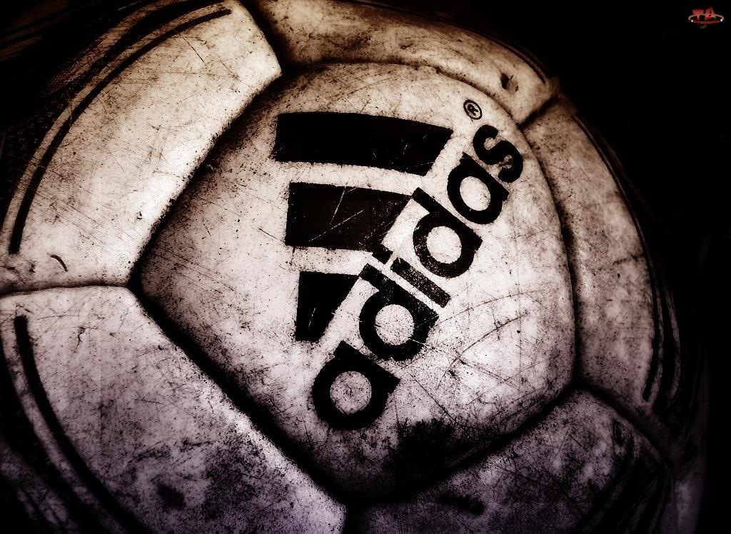 Czarne, Piłka, Logo, Adidas
