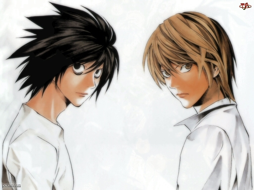 Death Note, koszula, postacie, biały
