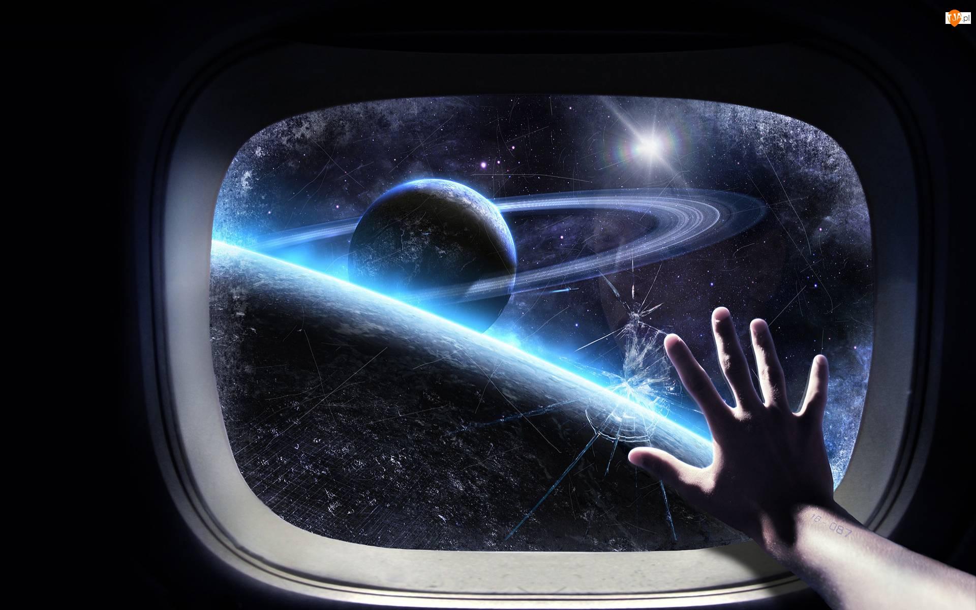 Okno, Kosmos, Dłoń
