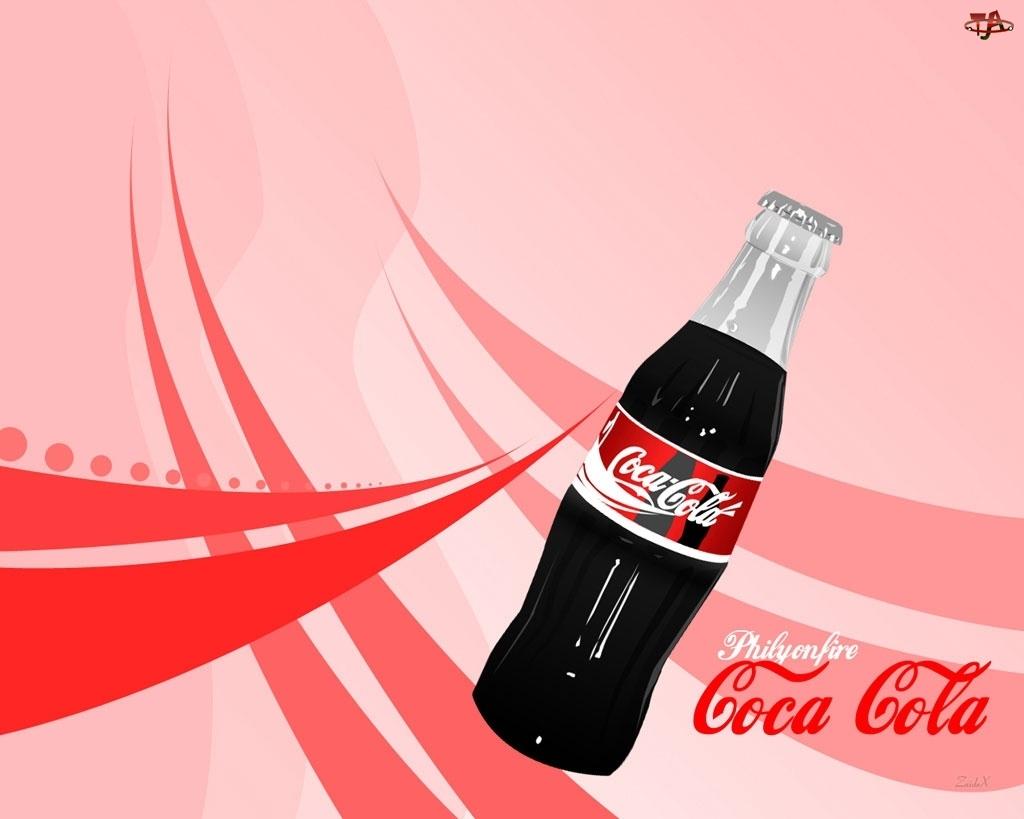Szklana, Coli, Butelka, Coca