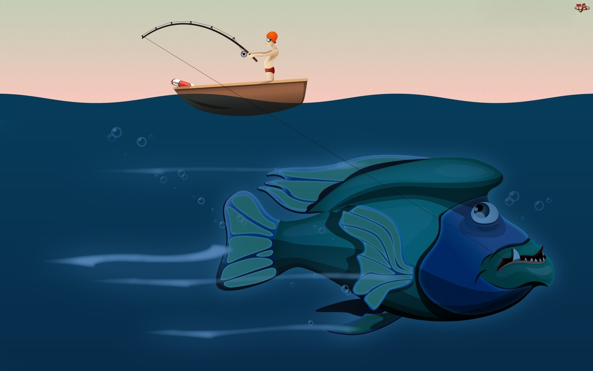 Wędkarz, Duża, Ryba