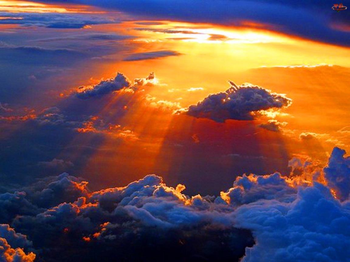 Chmury, Niebo, Kolorowe