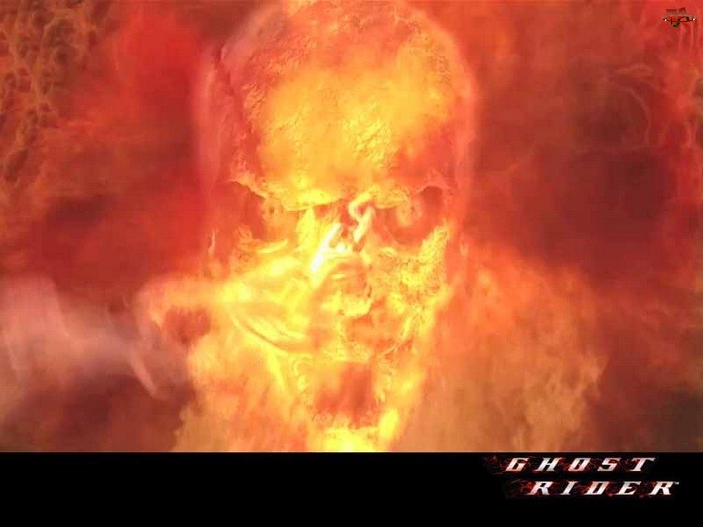 czaszka, Ghost Rider, ogień