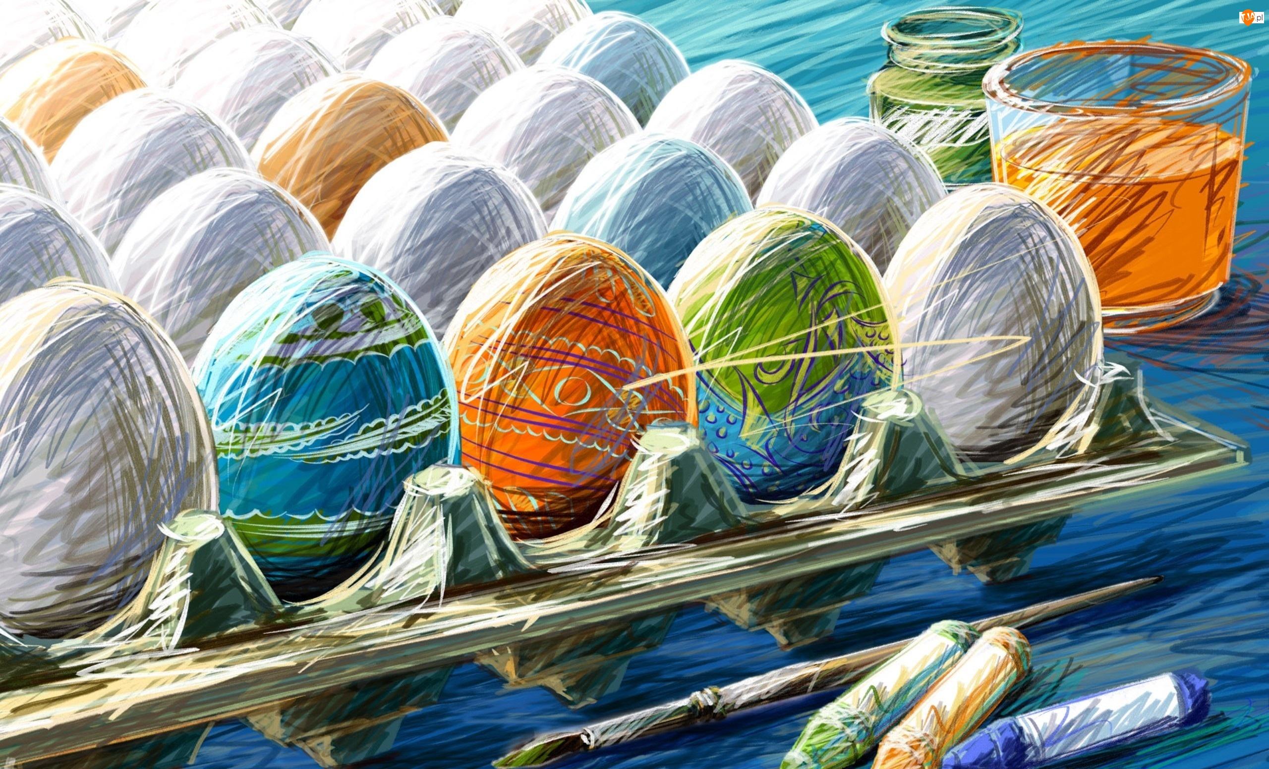 Jaj, Wielkanoc, Malowanie