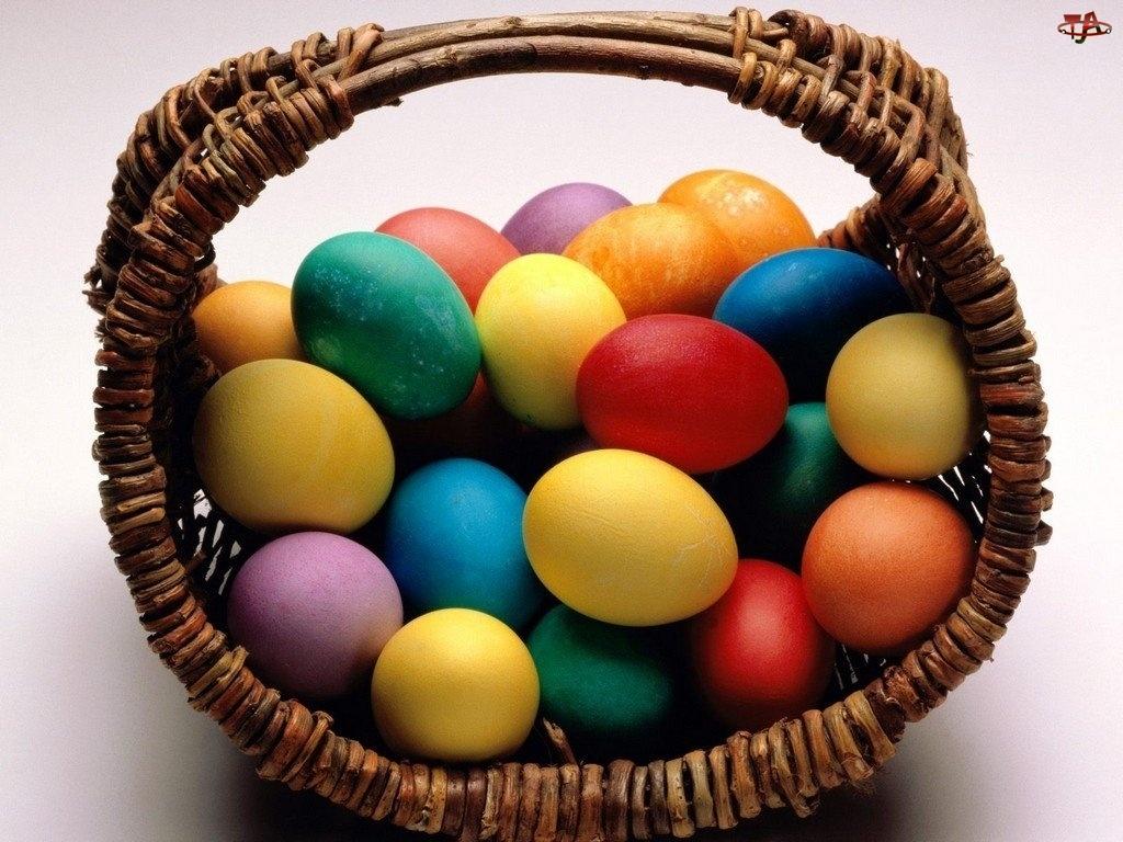 Koszyk, Wielkanoc, Pisanki