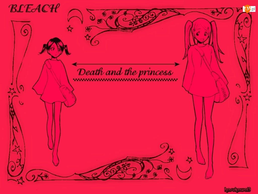 Bleach, rysunek, pocztówka, dziewczyny