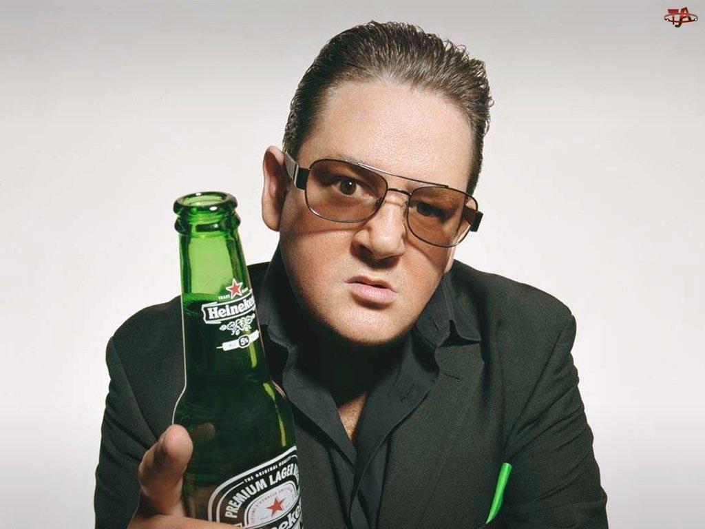 mężczyzna, Piwo, Heineken
