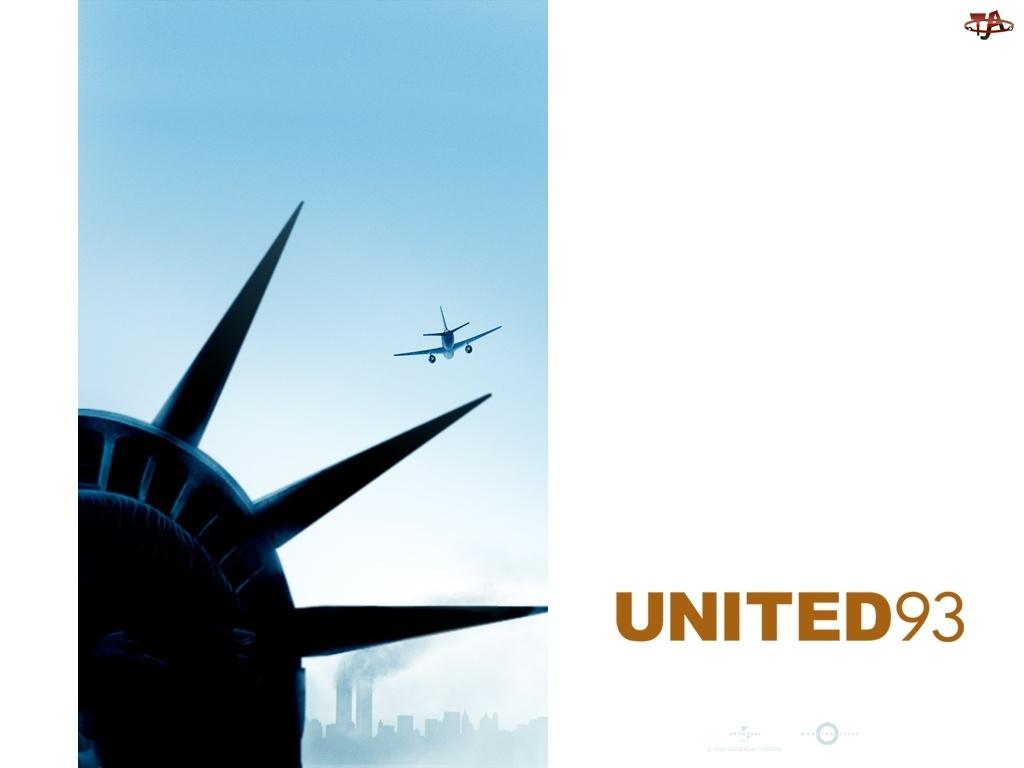 United 93, wolności, samolot, statua