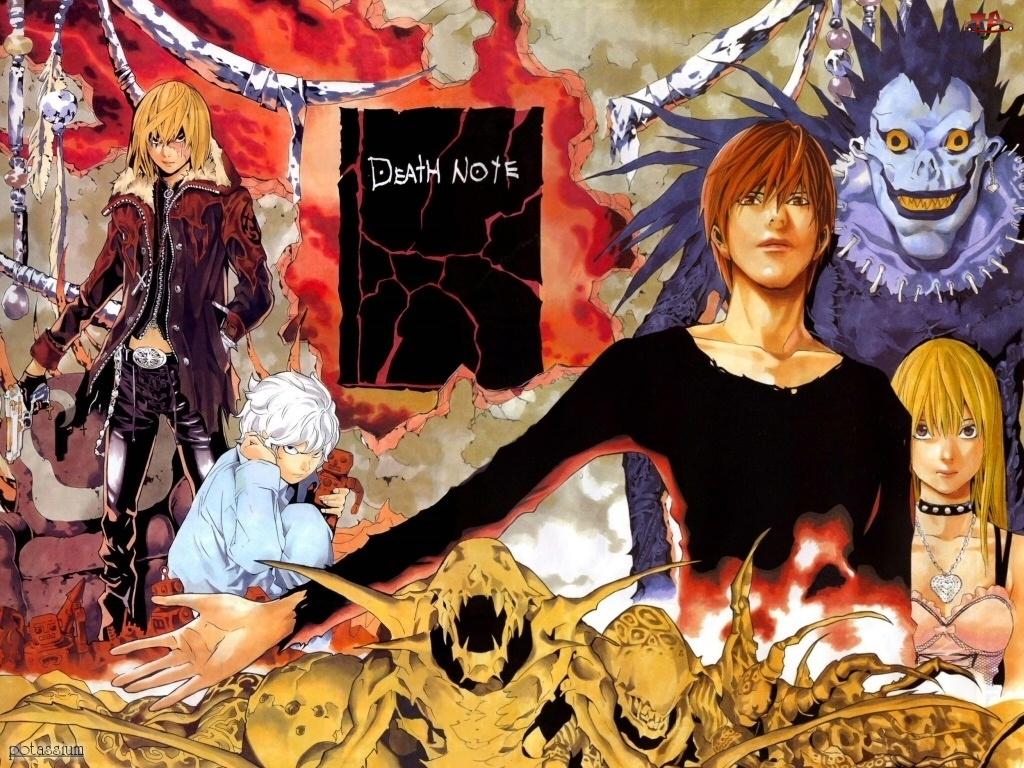 Death Note, potwory, książka, postacie