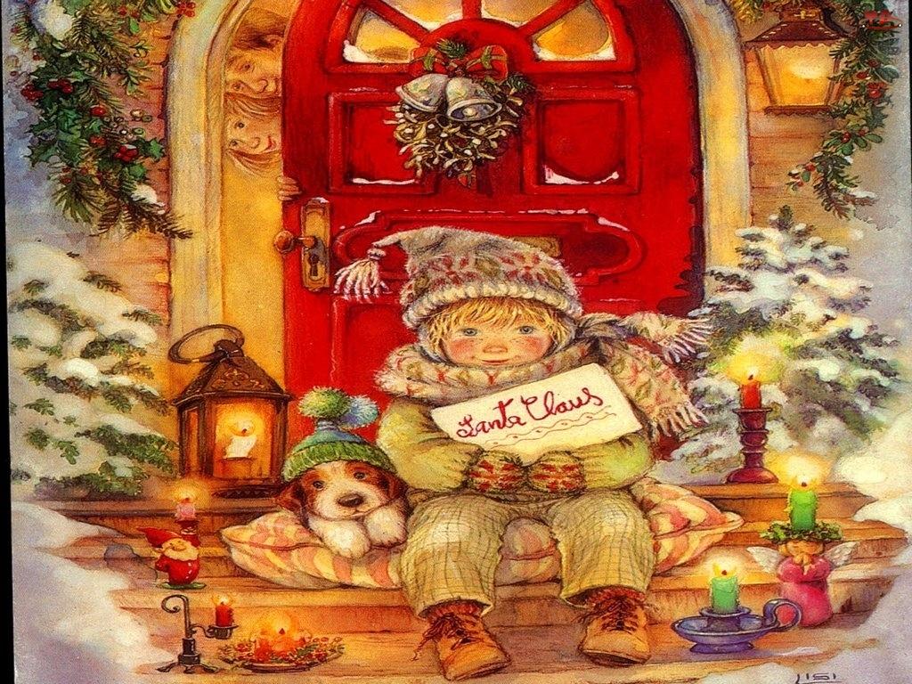 piesek, Boże Narodzenie, dziecko