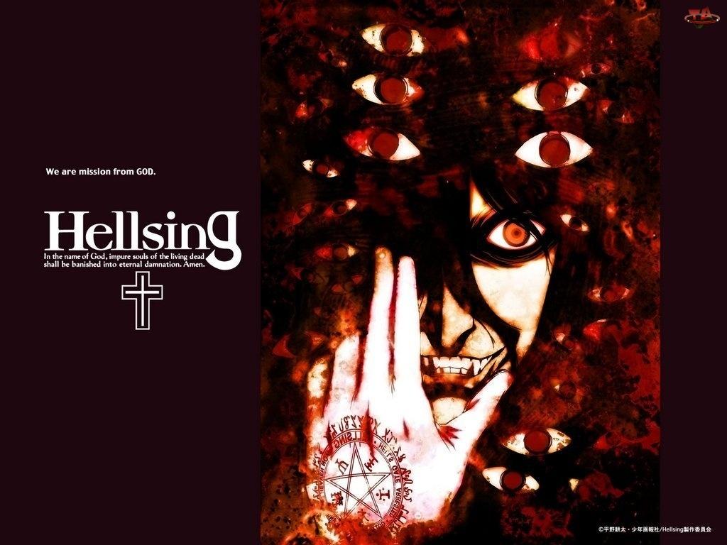 Hellsing, oczy, twarz, osoba