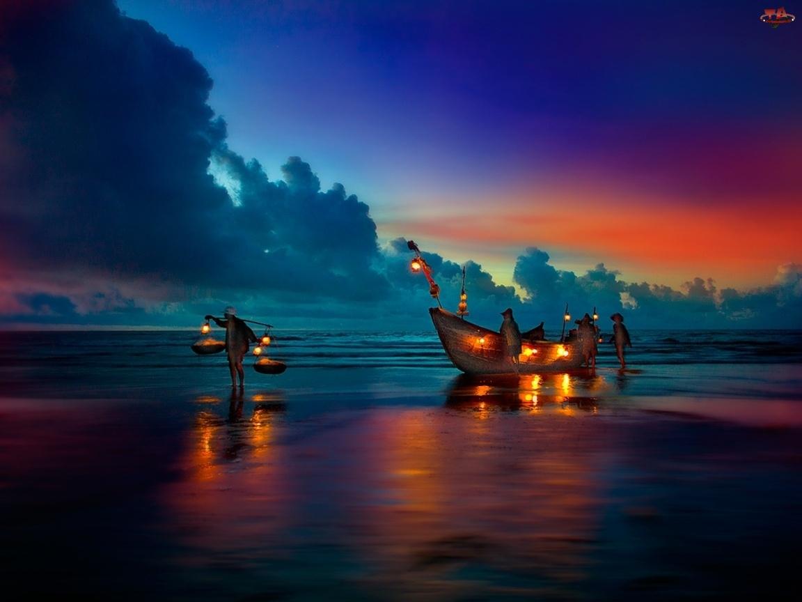 Rybacy, Morze, Plaża