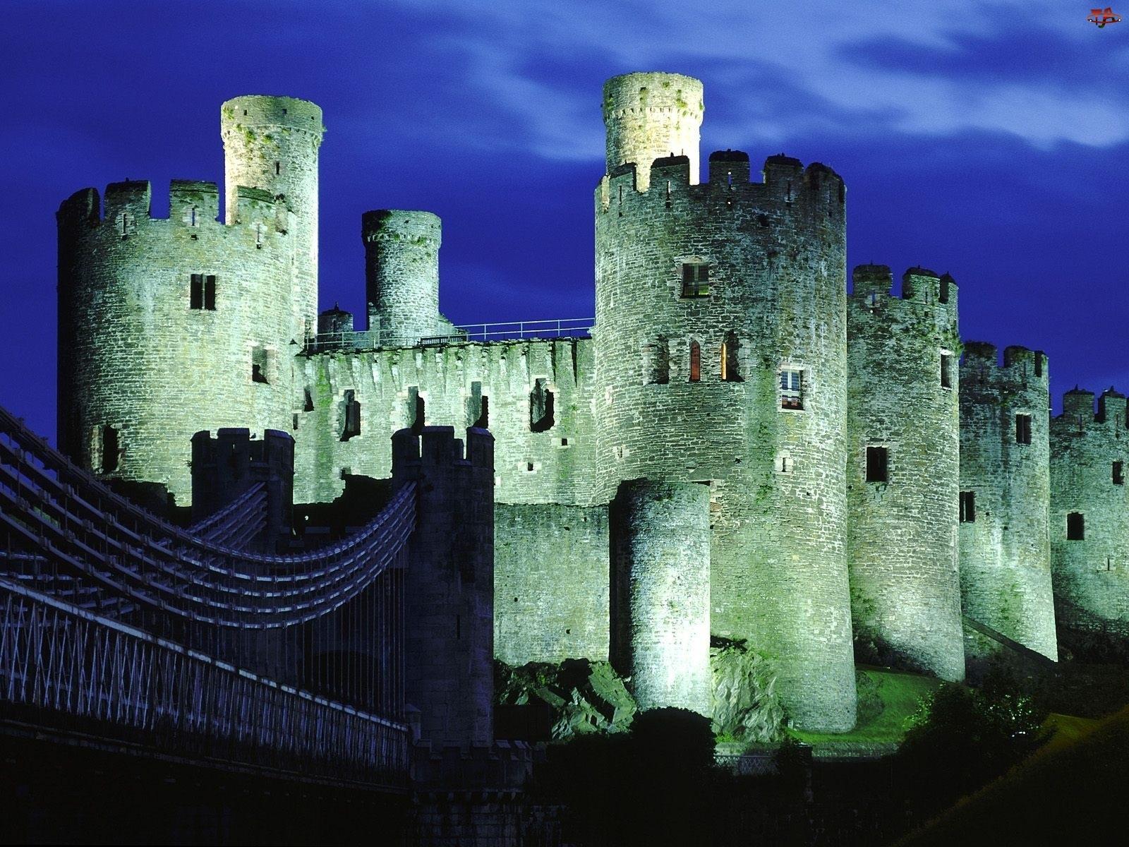 Brytania, Zamek, Gwynedd, Conwy, Wielka