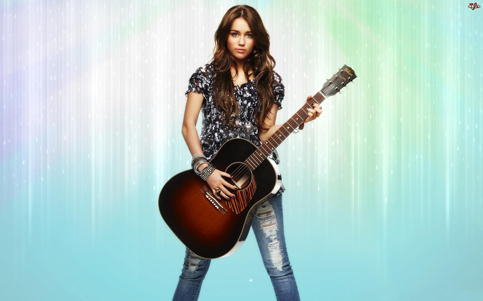 Miley Cyrus, Gitara