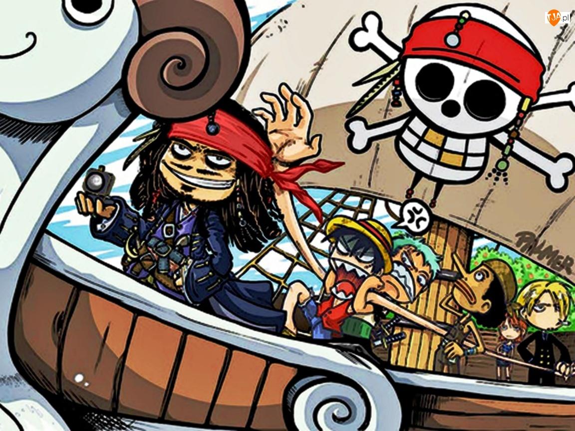 Jack Sparrow, One Piece, Statek, Kompas