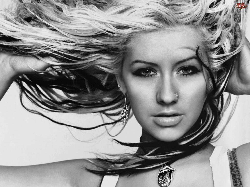 naszyjnik, Christina Aguilera, kolczyk