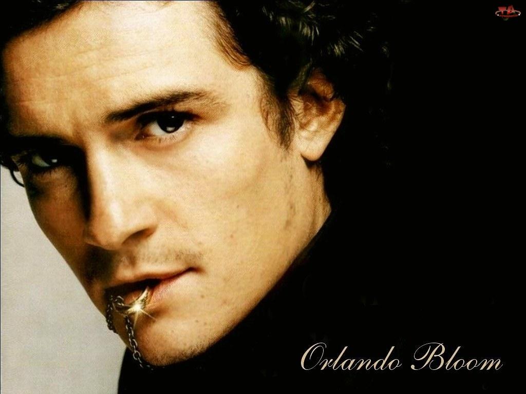 Orlando Bloom, czarny strój