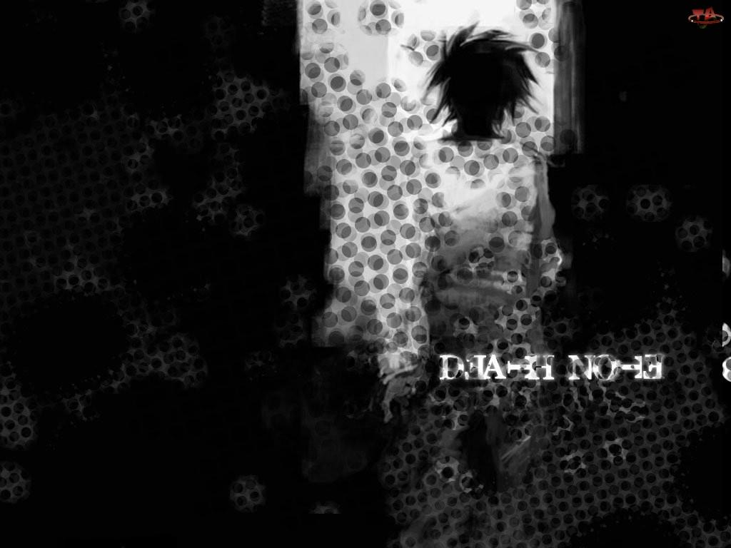 Death Note, plamy, postać, napis