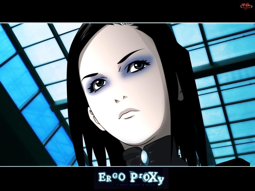 Ergo Proxy, dziewczyna, makijaż, okna