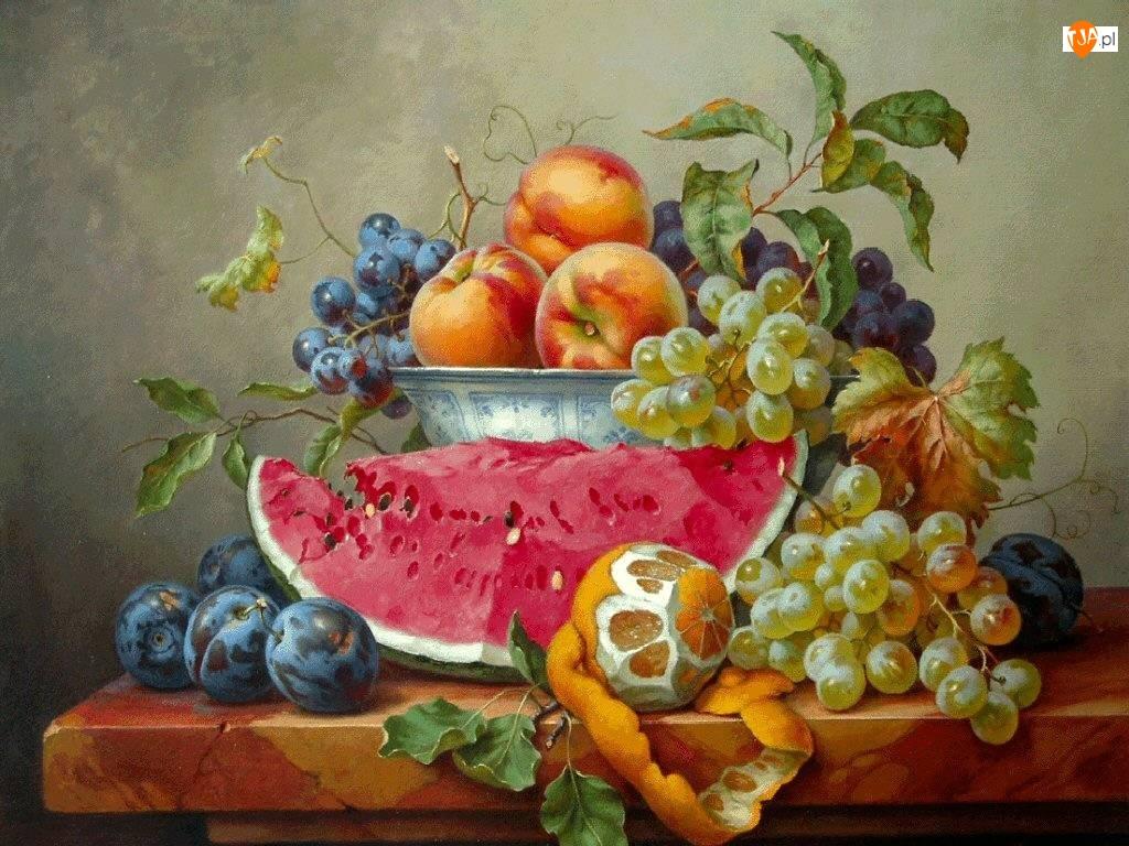 Stół, Smakowite, Owoce, Miska