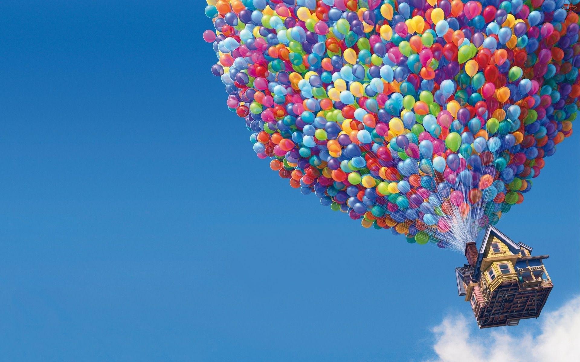 Balony, Odlot, Up
