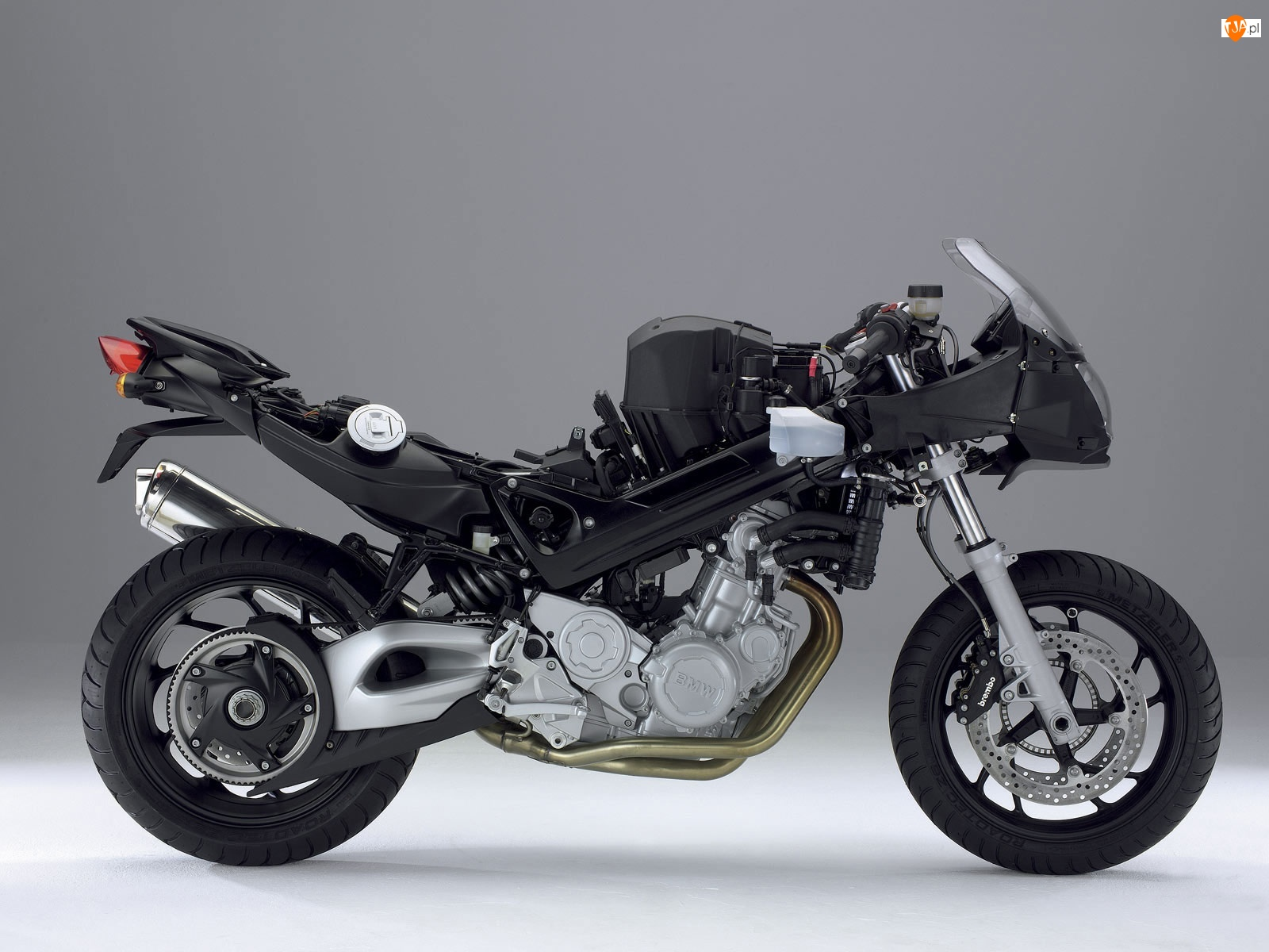 Przekrój, BMW F800S, Rama