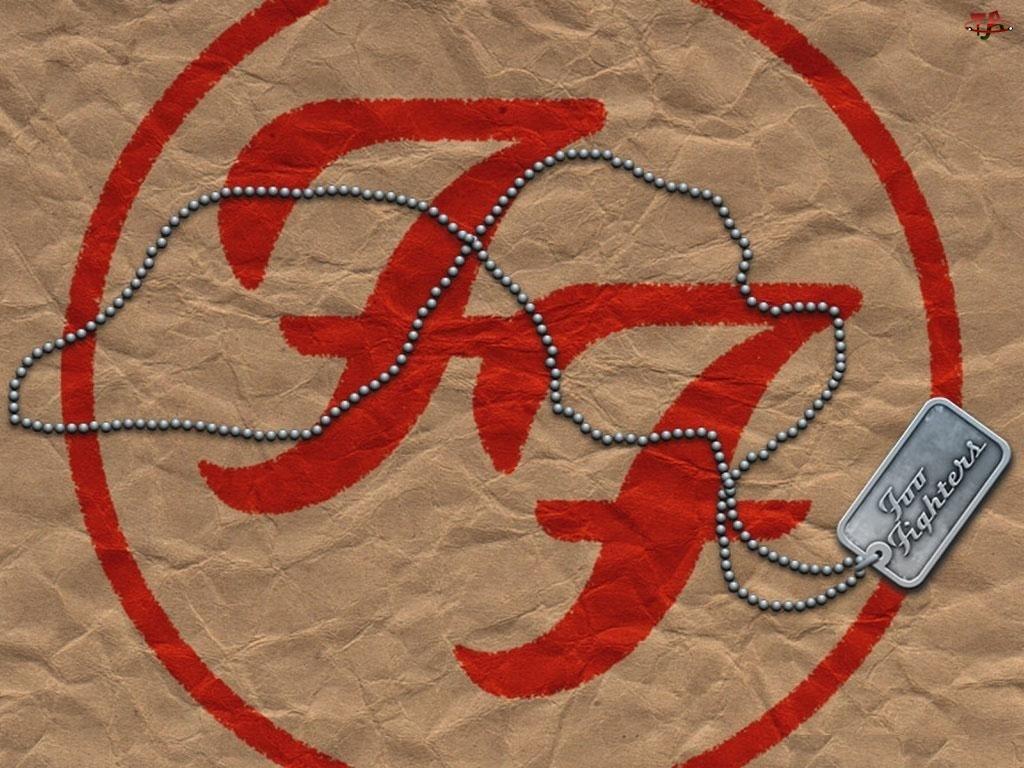 Foo Fighters, medalion, znaczek, łańcuszek