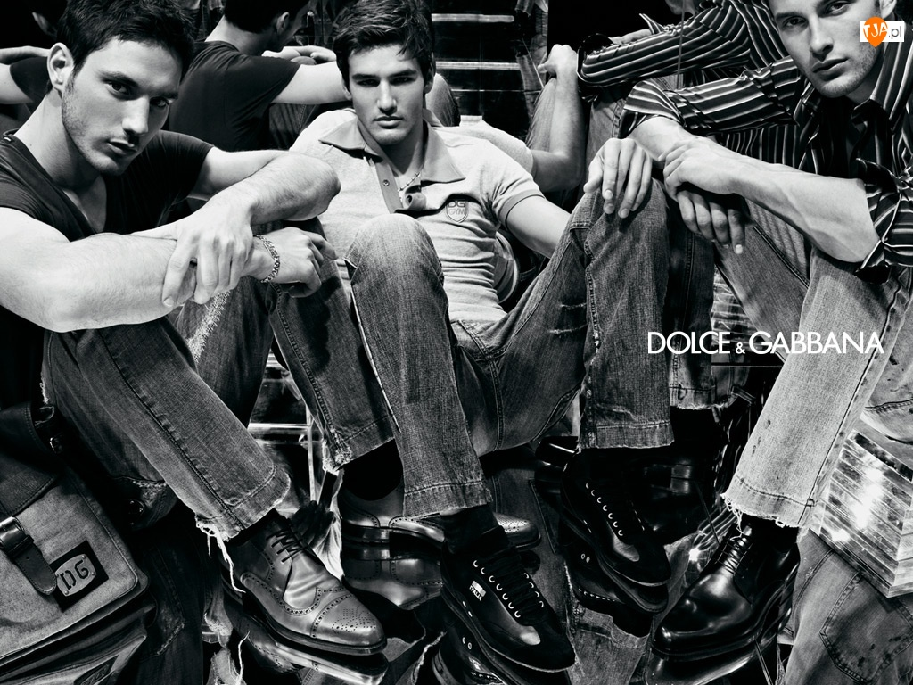 polo, jeans, mężczyźni, Dolce And Gabbana, buty, spodnie, koszula