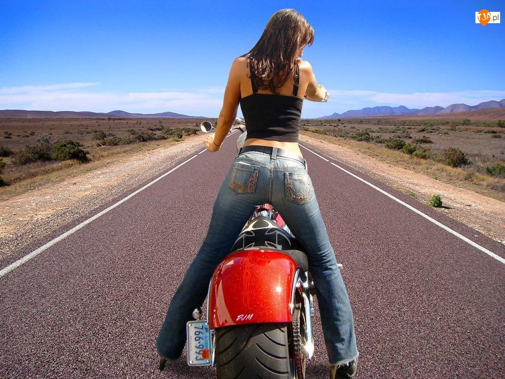 Kobieta, Motocykl