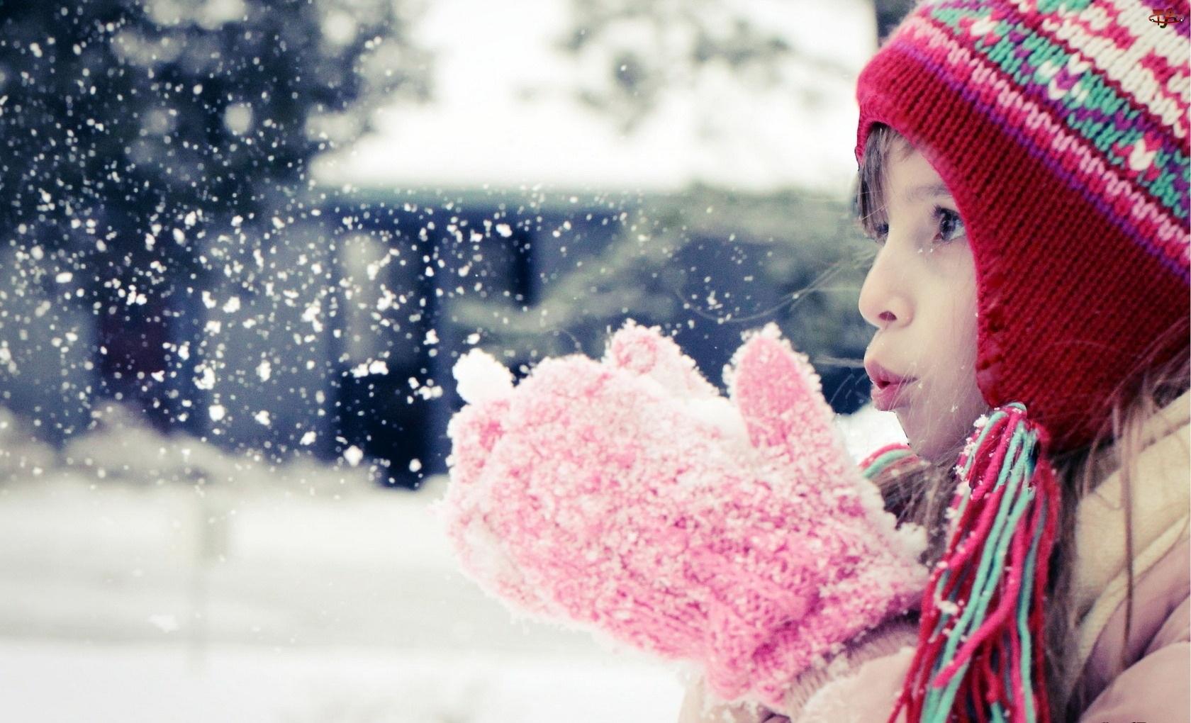 Zima, Dziecko, Śnieg