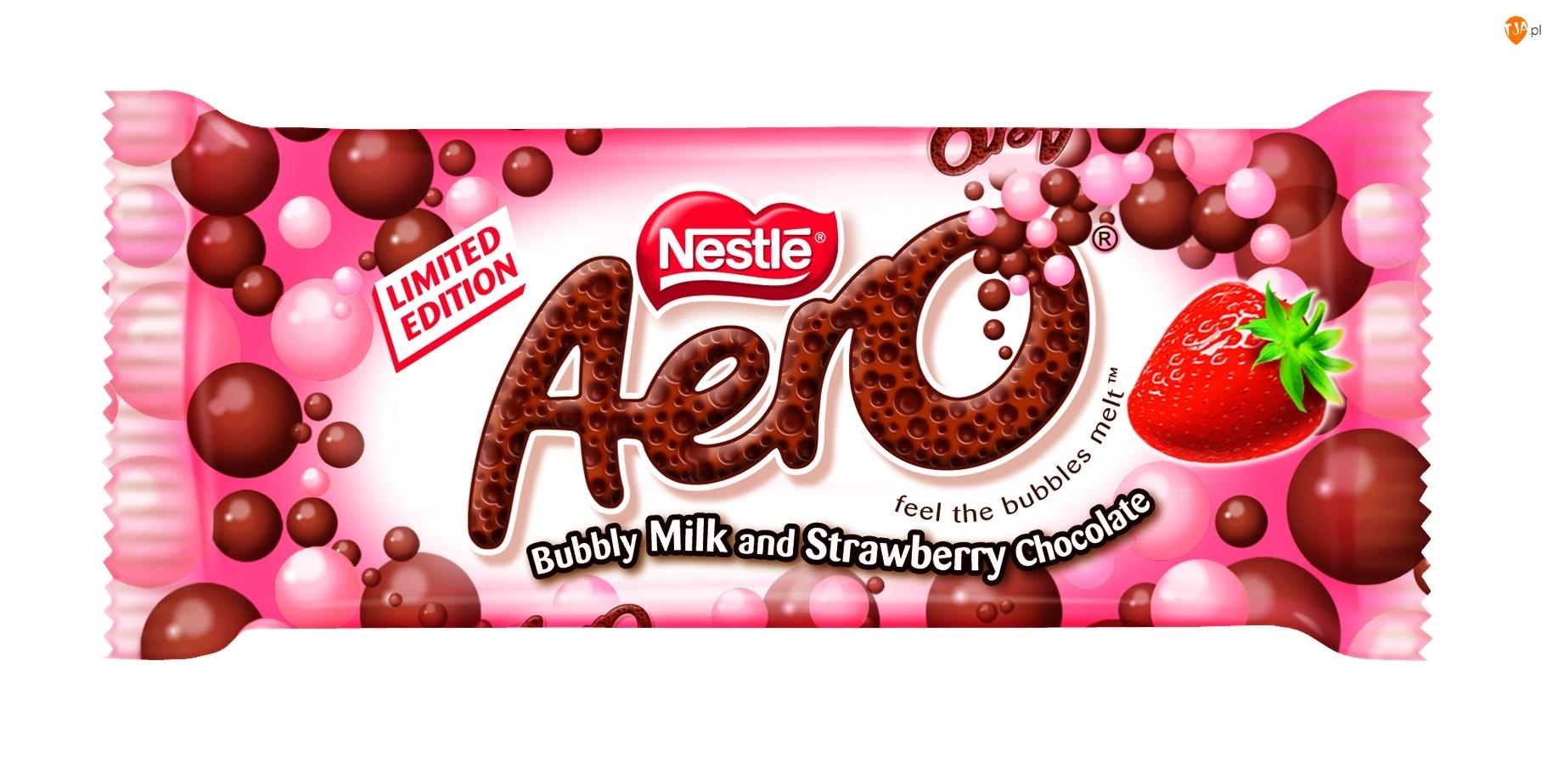 Truskawkowa, Nestle, Czekolada, Aero, Mleczna